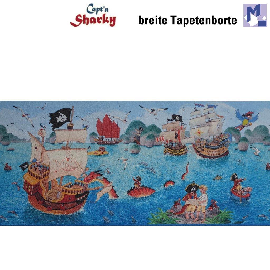 Cenefa rasch 120509 capt 39 n sharky 26cm ancho piratas - Papel pintado piratas ...