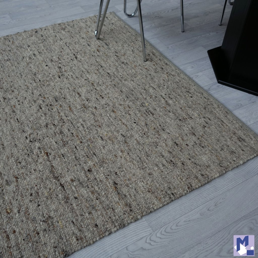 Woll Handweb Teppich Tauber 030 Natur Grau Michelberger Ihr