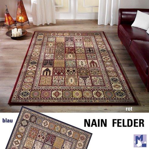 Klassiker Der Extraklasse Teppich Nain Felder Orient Muster Rot Oder