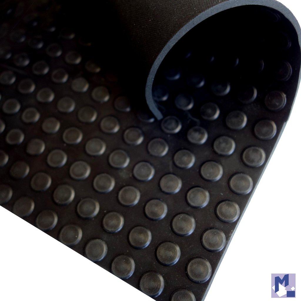 noppenmatte gummil ufer 4 0 mm schwarz 150 cm breit michelberger ihr trendy teppich shop. Black Bedroom Furniture Sets. Home Design Ideas